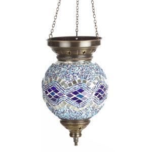 0115,05 Подвесной светильник МАРОККО голубой h-60. d-15 E14 1*40w