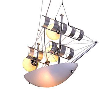 07422 Подвесной светильник ЯХТА белый 3 плаф d57*30 h80 E27 5*40w (пульт ДУ в комплекте)