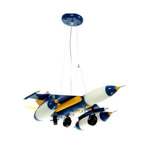 07431,05 Подвесной светильник ШТУРМОВИК металл синий w60*50 h90 Е14 5*40w