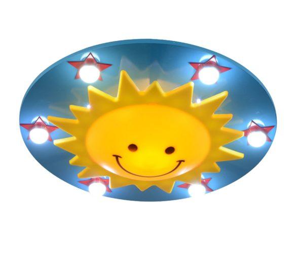 07459 Светильник СОЛНЦЕ голубой h-10 d-50 E27 1*MAX 11w ( Energy Saving)+Led 6*3w+Led 28*0.05w с пультом ДУ
