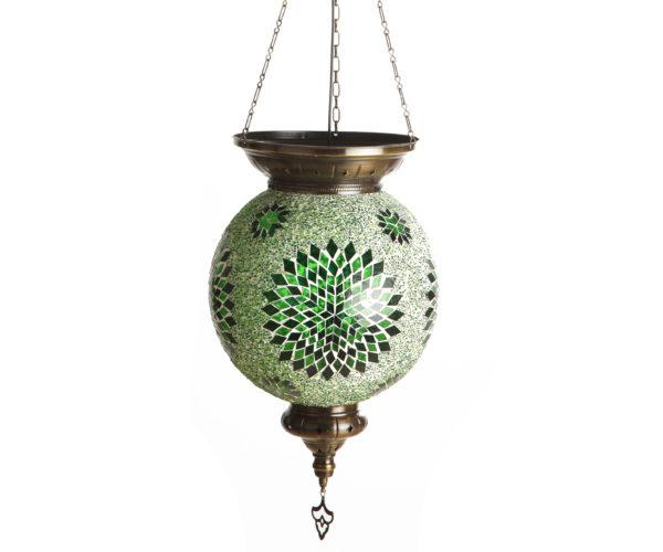 0130T,07 Подвесной светильник МАРОККО зеленый h-80. d-30 E27 1*60w