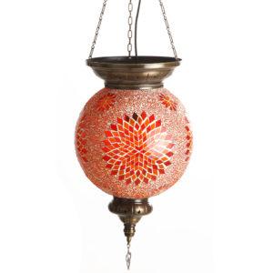 0130T,09 Подвесной светильник МАРОККО оранжевый h-80. d-30 E27 1*60w