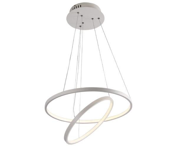 08660,01 Подвесной светильник ТОР-ТРЕК белый d50+35 h120 Led 30W (4000К)