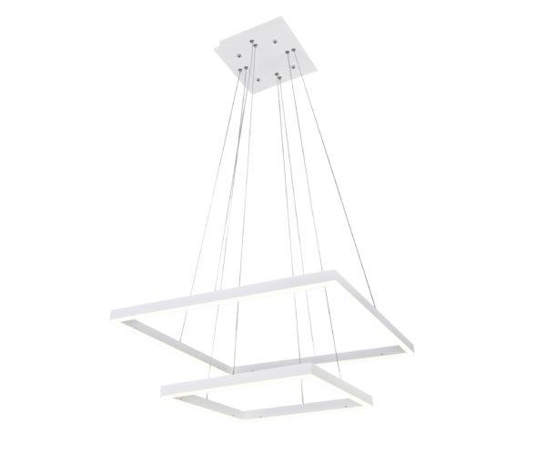 08227,01(3000-6000K) Подвесной светильник диммируемый АЛЬТИС белый w60+40 h110 Led 60W  (3000-6000K) с пультом ДУ