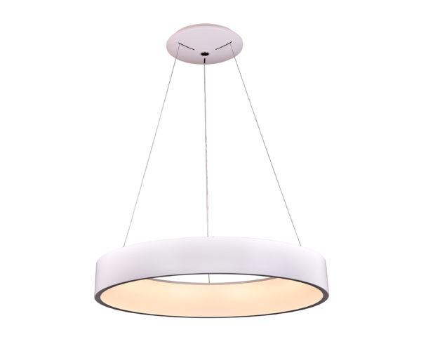 08507,01 Подвесной светильник диммируемый КРЕЙС белый D60 h120 Led 72W (3000-6000K) с пультом ДУ